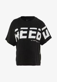 Reebok - MEET YOU THERE GRAPHIC TEE - Print T-shirt - black - 3