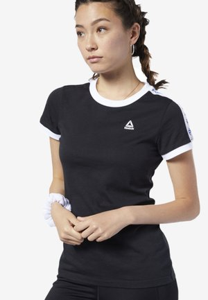 TRAINING ESSENTIALS LINEAR LOGO TEE - T-shirt med print - black