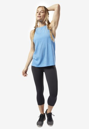 ONE SERIES BURNOUT TANK TOP - Sports shirt - blue
