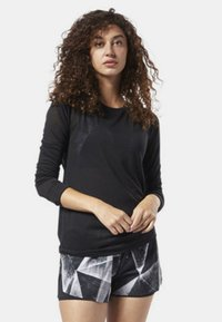 Reebok - ONE SERIES BURNOUT LONG SLEEVE TEE - Camiseta de deporte - black - 1