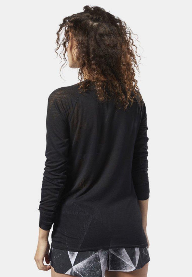 Sport De Series Sleeve Burnout Long One Black Reebok TeeT shirt lK15uFTJc3