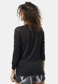 Reebok - ONE SERIES BURNOUT LONG SLEEVE TEE - Camiseta de deporte - black - 2