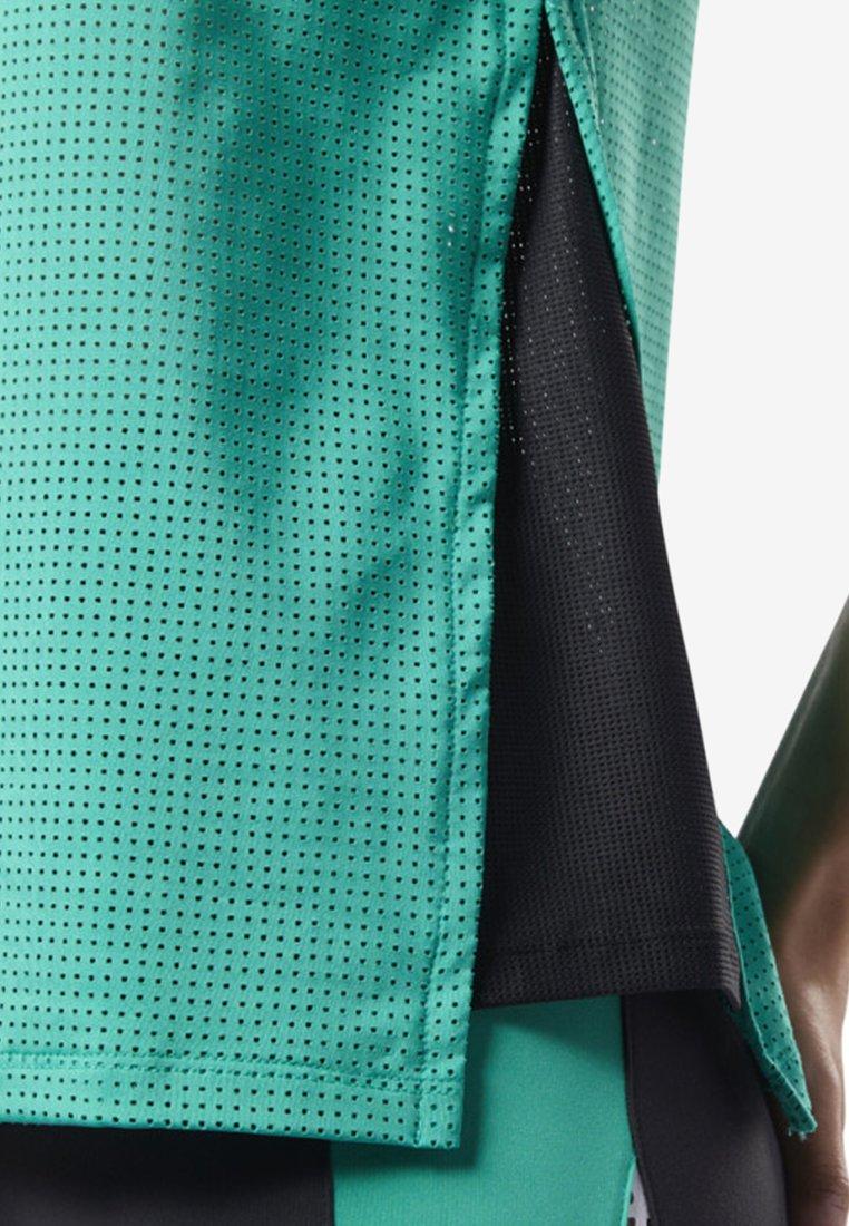 Reebok Perforated Performance Tank TopT shirt Sportiva Green Nm8n0vwO
