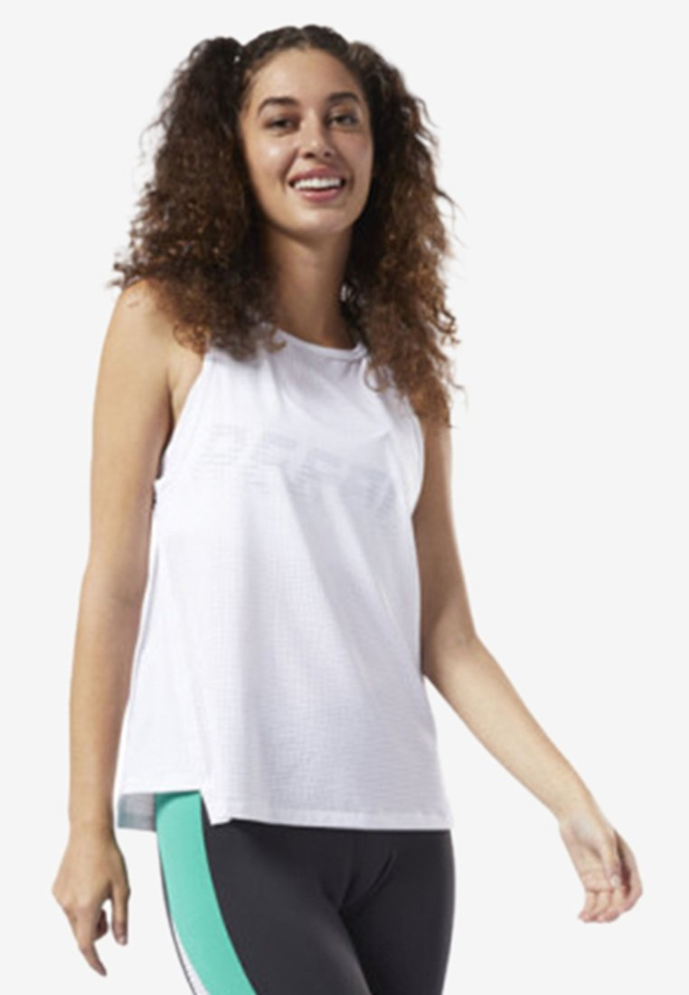 Reebok - PERFORATED PERFORMANCE TANK TOP - T-shirt de sport - white