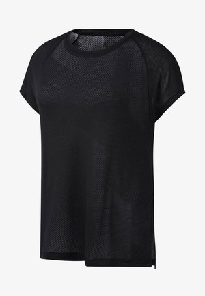 ONE SERIES BURNOUT TEE - T-shirts med print - black