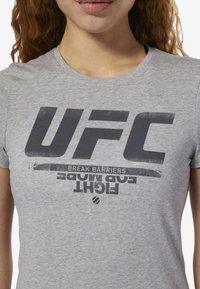 Reebok - UFC FAN GEAR LOGO TEE - T-shirt con stampa - grey - 4