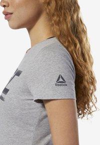 Reebok - UFC FAN GEAR LOGO TEE - T-shirt con stampa - grey - 3