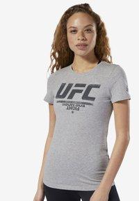 Reebok - UFC FAN GEAR LOGO TEE - T-shirt con stampa - grey - 0