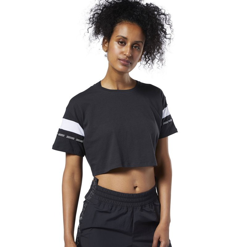 Reebok - MEET YOU THERE COLORBLOCK TEE - T-shirt con stampa - black