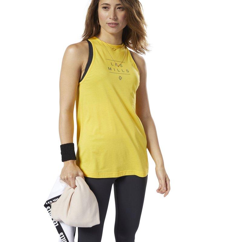 Reebok - LES MILLS® TANK TOP - Top - toxic yellow
