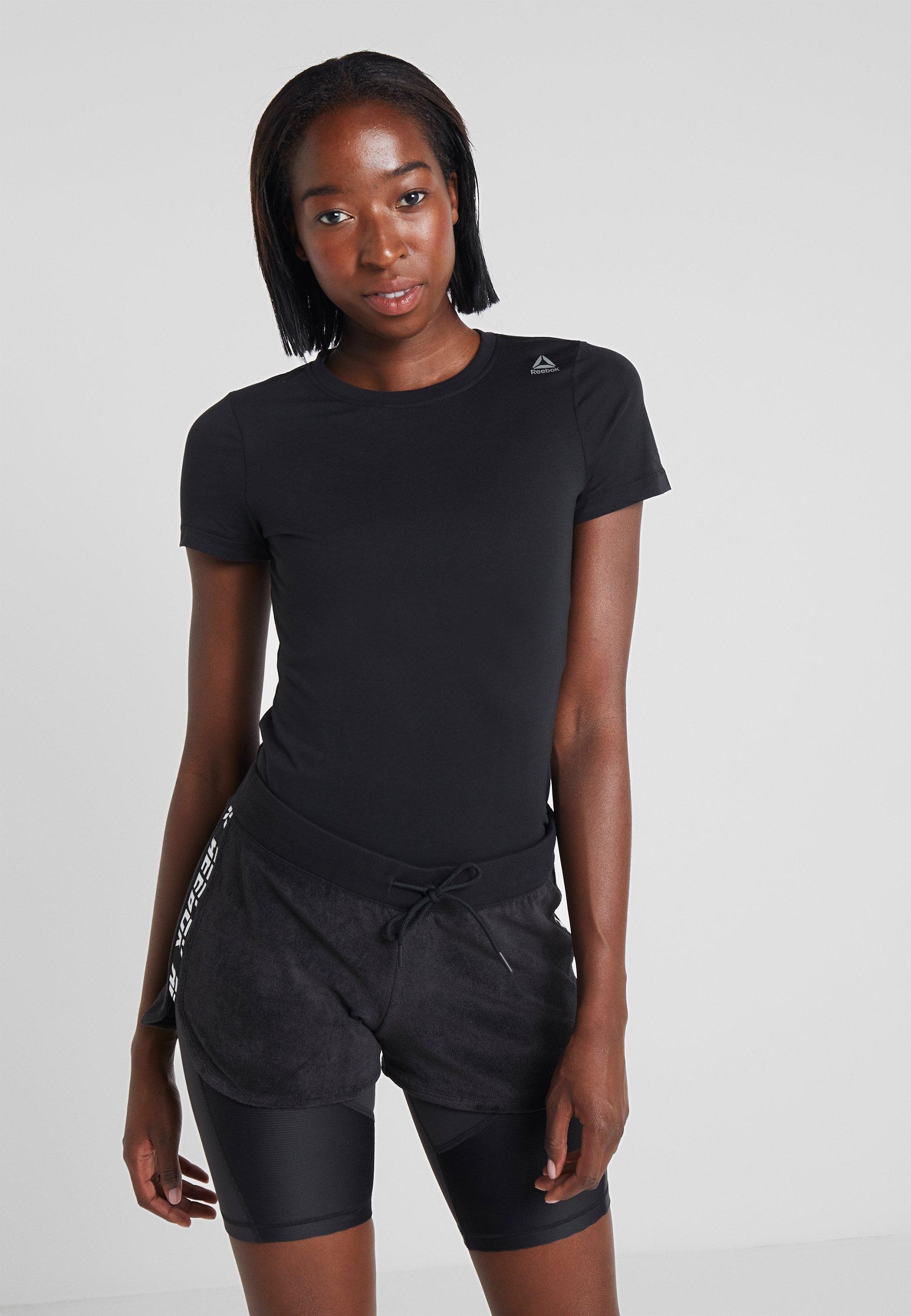 TeeT Black shirt Reebok Reebok Basique f76yYbg