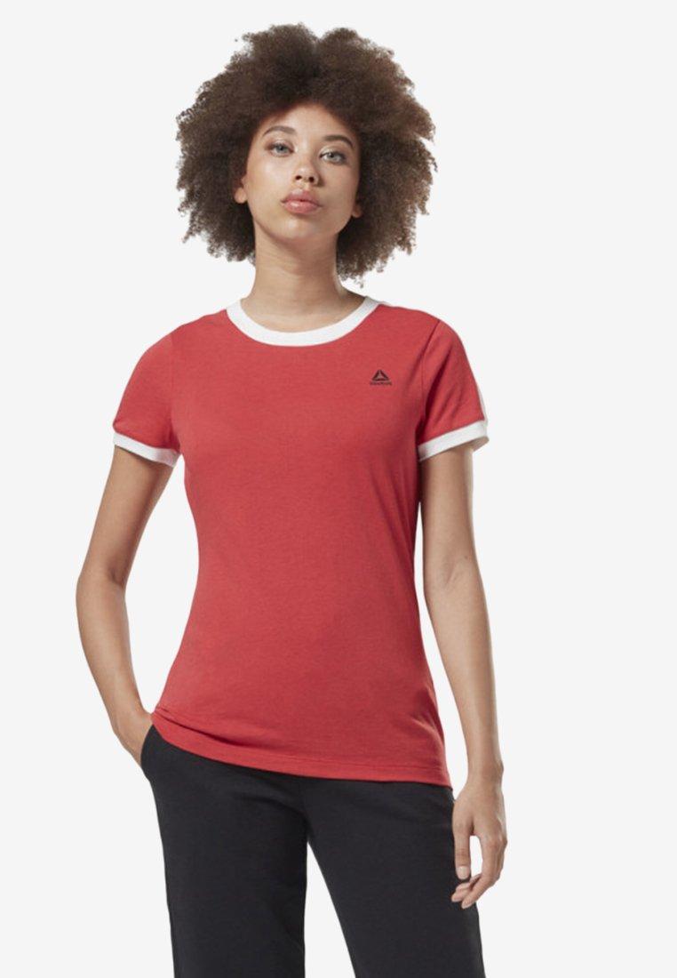Reebok - TRAINING ESSENTIALS LINEAR LOGO TEE - T-Shirt print - rebel red