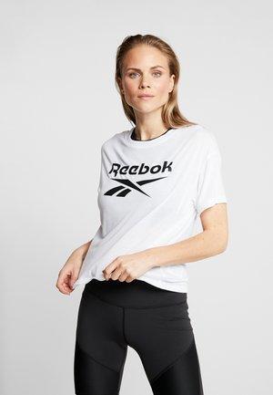 WOR SUP TEE - T-shirt z nadrukiem - white
