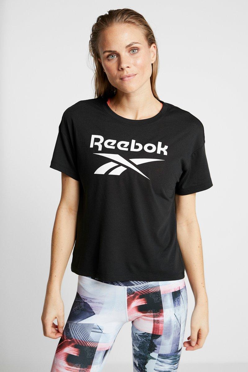 Reebok - WOR SUP TEE - T-shirt imprimé - black