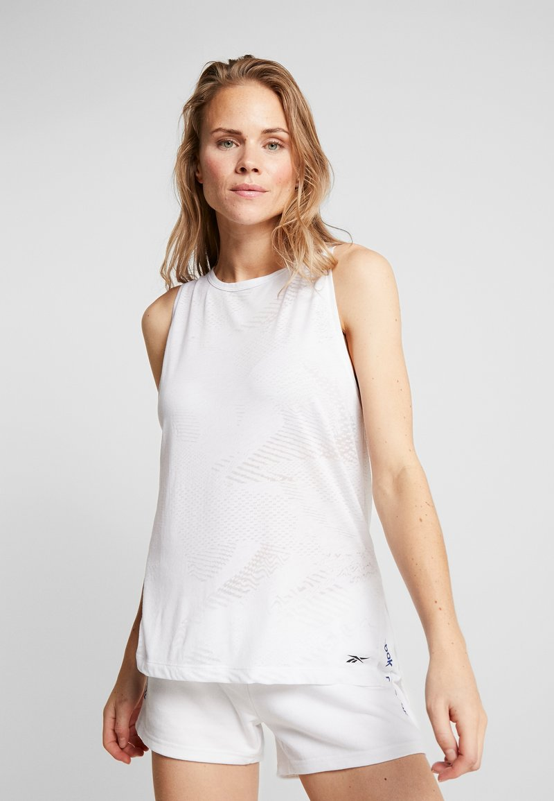 Reebok - BURNOUT TANK - Top - white