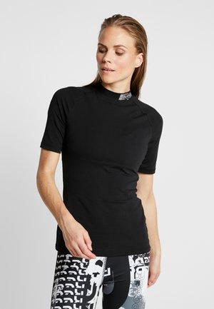 SOLID TEE - Camiseta estampada - black