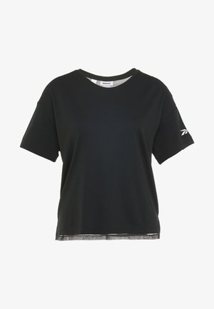 TEE SOLID - T-shirts med print - black