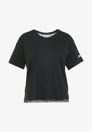 TEE SOLID - Camiseta estampada - black