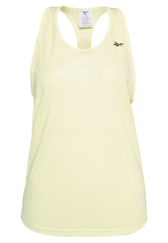 2020-03-26 MESH BACK TANK TOP - T-shirt sportiva - yellow