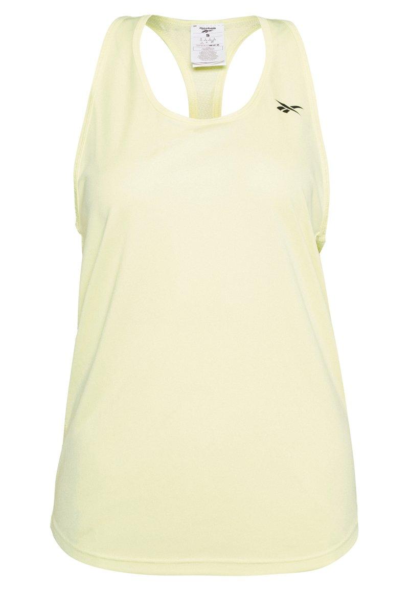 Reebok - MESH BACK TANK TOP - Camiseta de deporte - yellow