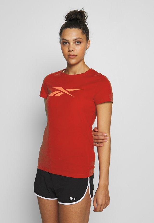 VECTOR TEE - Camiseta estampada - red