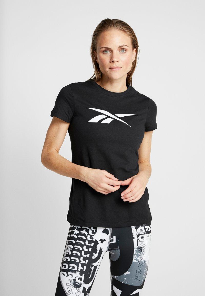 Reebok - VECTOR TEE - Print T-shirt - black