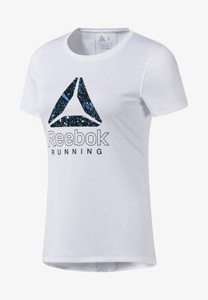 RUNNING ESSENTIALS GRAPHIC TEE - Print T-shirt - white