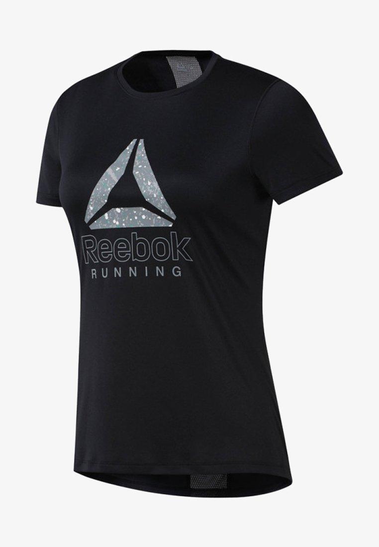 Reebok - RUNNING ESSENTIALS GRAPHIC TEE - T-Shirt print - black