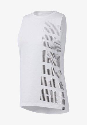 GRAPHIC SERIES MOTO REEBOK MUSCLE TANK TOP - Sports shirt - white