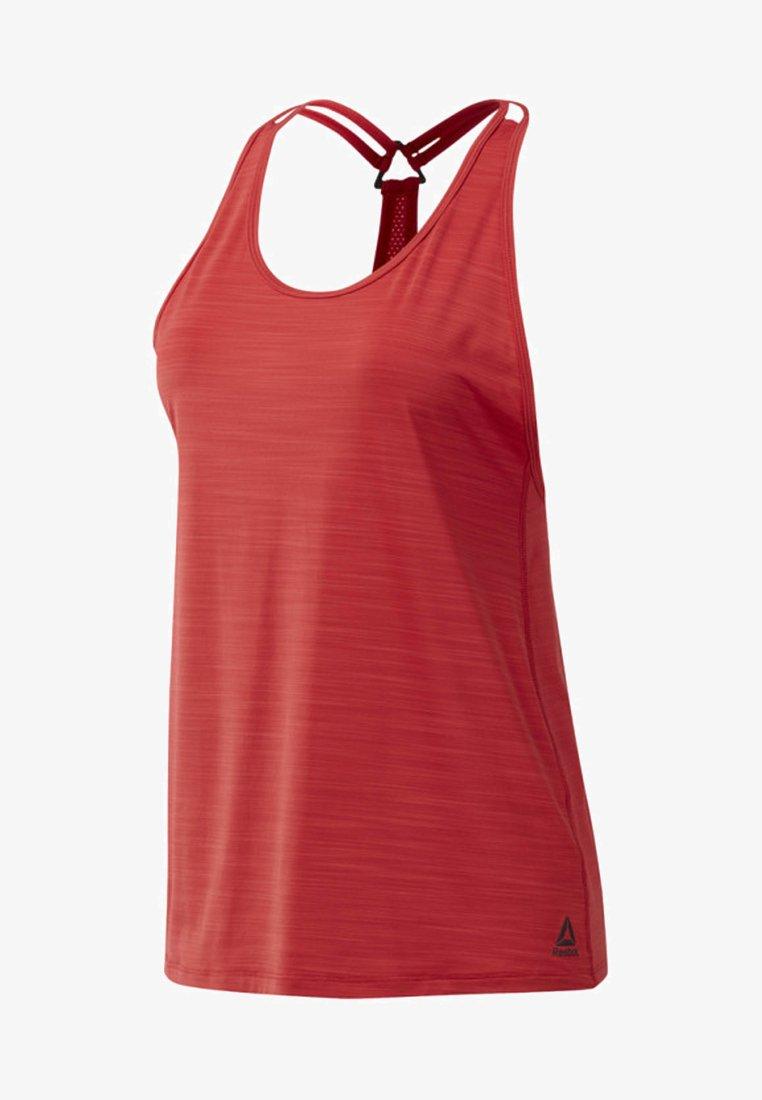 Reebok - ACTIVCHILL TANK TOP - Sports shirt - rebel red