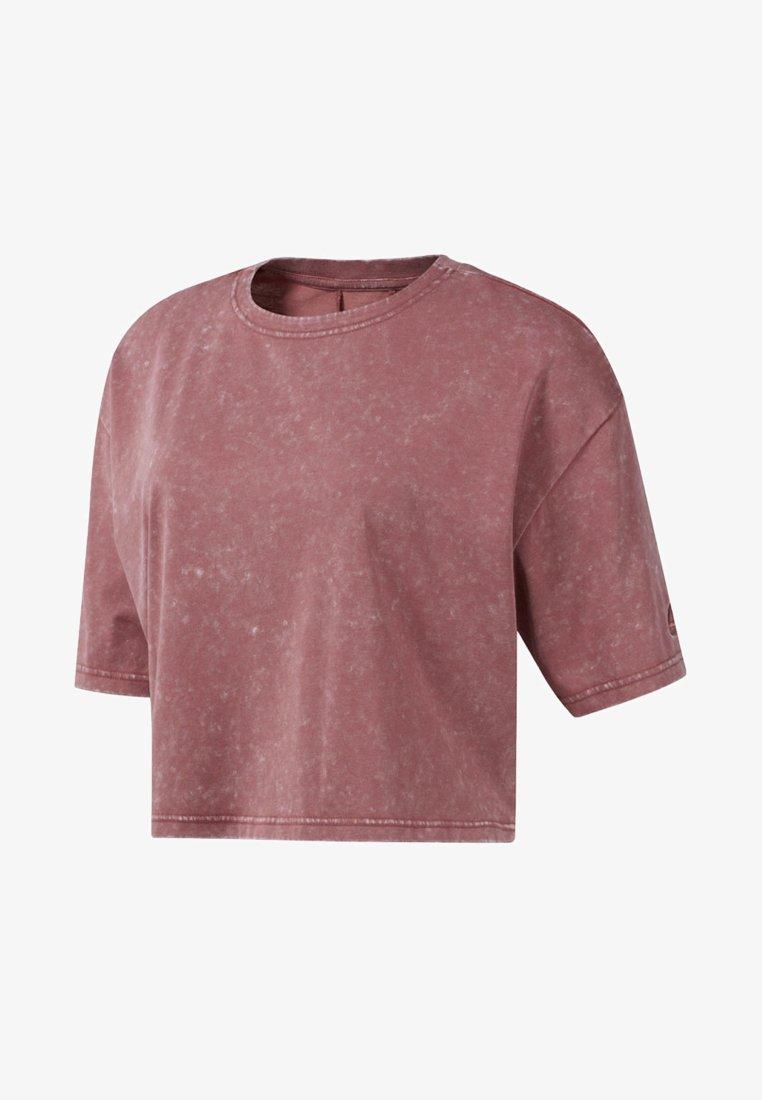 Reebok - STUDIO WASHED TEE - T-Shirt print - pink