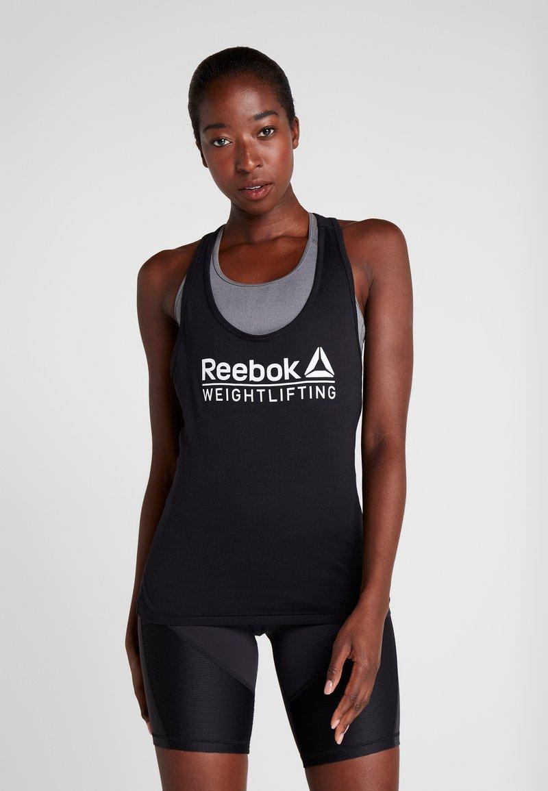 Reebok - WEIGHTLIFTING TANK - Topper - black