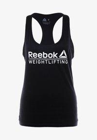 Reebok - WEIGHTLIFTING TANK - Topper - black - 4