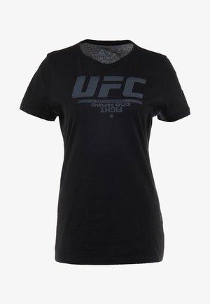 UFC LOGO TEE - Triko spotiskem - black
