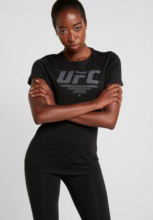 UFC LOGO TEE - Print T-shirt - black