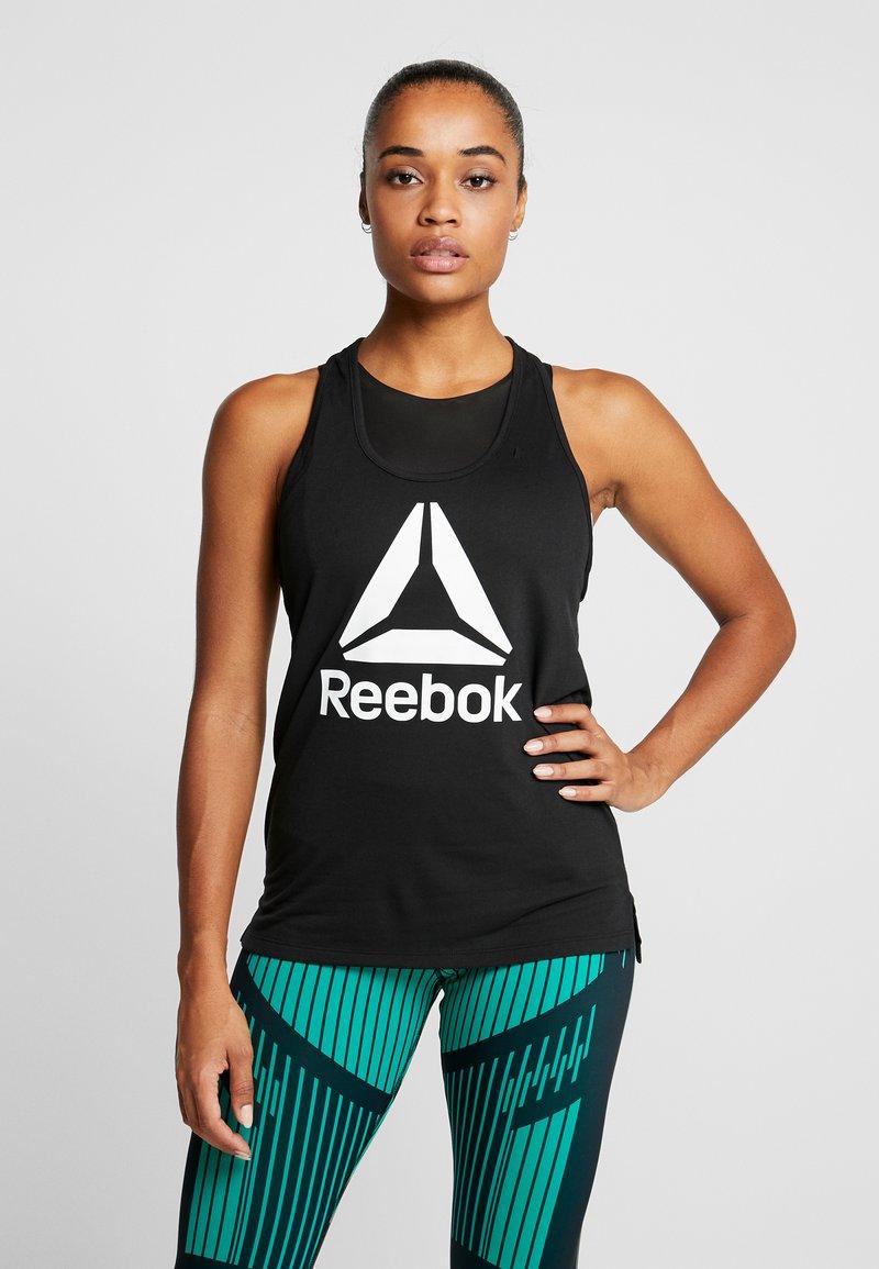 Reebok - TANK  - Treningsskjorter - black