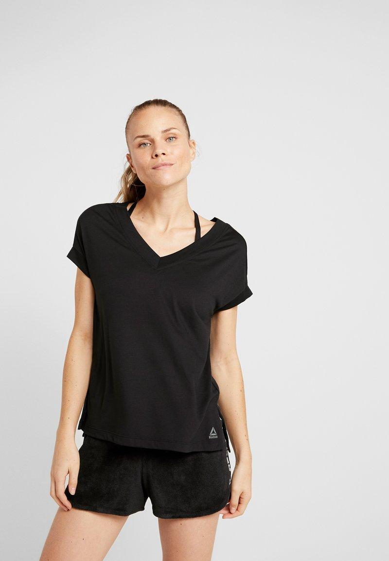 Reebok - DETAIL TEE - T-shirt basic - black
