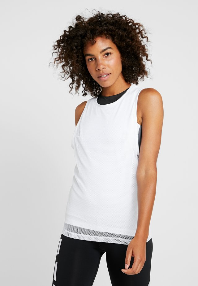 PERFORMANCE TANK - Sportshirt - white