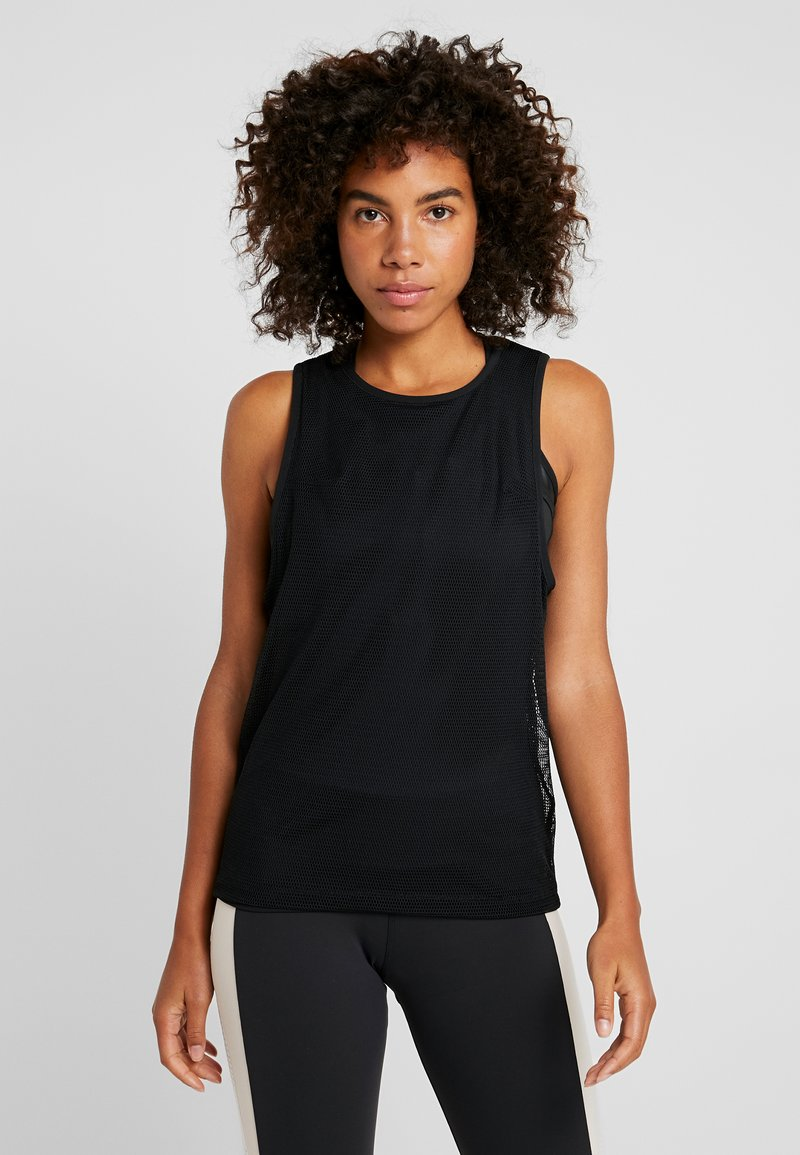 Reebok - PERFORMANCE TANK - T-shirt de sport - black