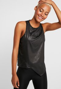 Reebok - GRAPHIC TANK - Topper - black - 0