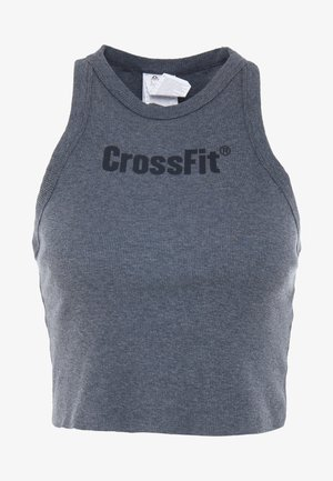 AUTHENTIC CROP TANK - Top - dark grey heather