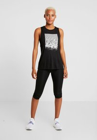 Reebok - GRAPHIC TANK - Top - black - 1
