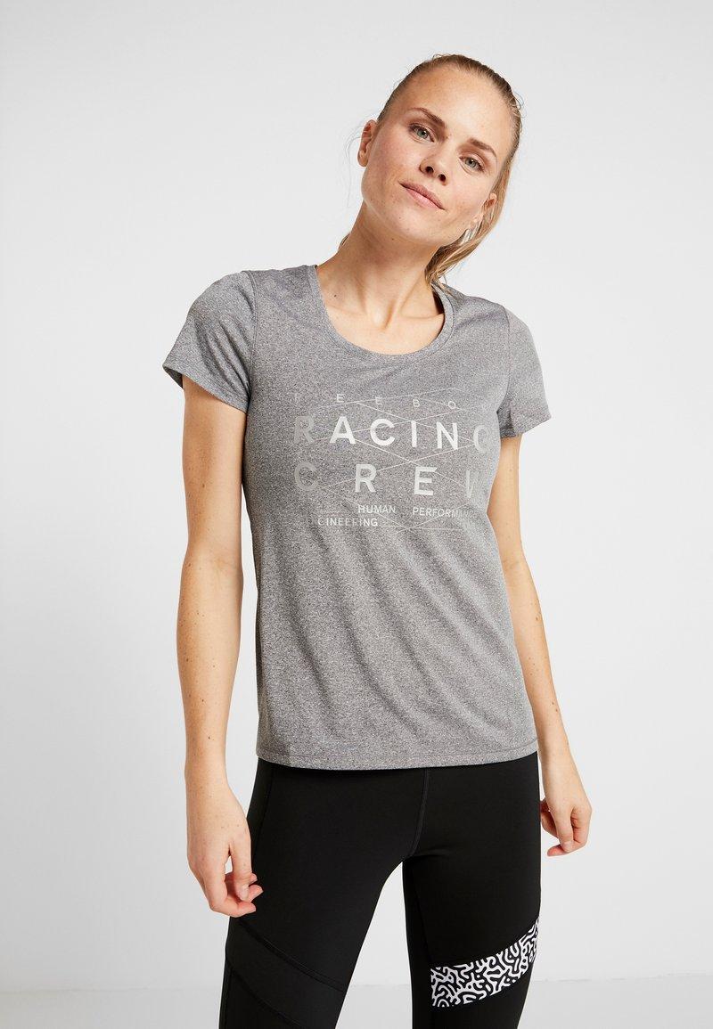 Reebok - REFLECT TEE - T-shirt med print - black