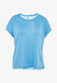 Reebok - TEE - T-shirts med print - cyan - 5