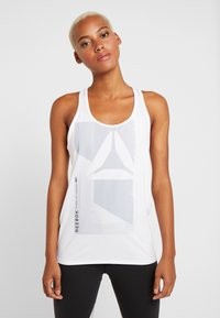 Reebok - GRAPHIC TANK - Sports shirt - white - 0