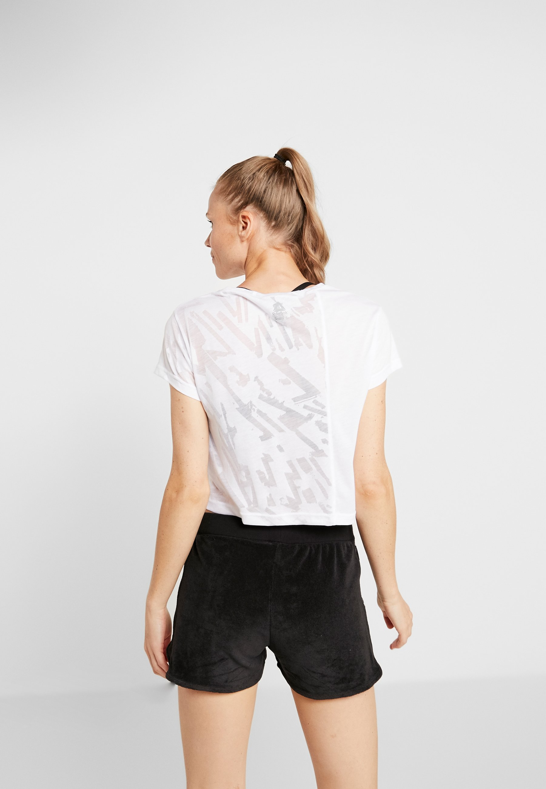 Reebok BURNOUT TEE - T-Shirt print white
