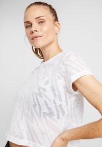 Reebok - BURNOUT TEE - Print T-shirt - white - 3