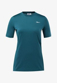 Reebok - WORKOUT READY SUPREMIUM TEE - T-shirts - heritage teal - 6
