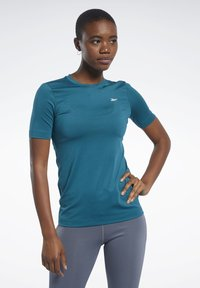 Reebok - WORKOUT READY SUPREMIUM TEE - T-shirts - heritage teal - 0