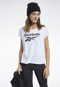 Reebok - GRAPHIC TEE - T-shirts med print - white - 0